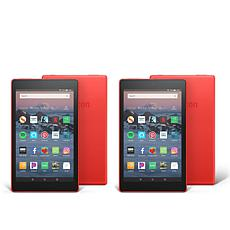 "Amazon Fire HD 8"" IPS 16GB Alexa-Enabled Tablet 2-pack with Vouchers"