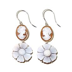 "AMEDEO ""Dea dei Fiori"" 25mm Sardonyx  Cameo Earrings"