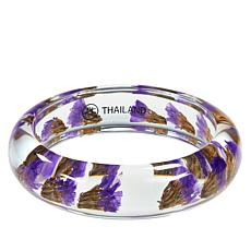 Amena K Purple Dried Flowers Bangle