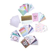 American Crafts All Occasion Greeting Card Kit 44-pieces