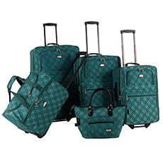 American Flyer Pemberly Buckles 5-Piece Luggage
