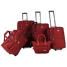 American Flyer Pemberly Buckles 5-Piece LuggageSet