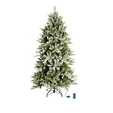 American Tree & Wreath 7.5' Color-Changing Flocked Starry Alpine Tree