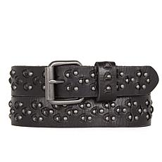 Amsterdam Heritage Marly Studded Black Leather Belt
