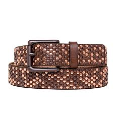 Amsterdam Heritage Melle Studded Cognac Leather Belt