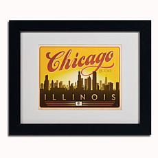 Anderson Design Group Chicago Skyline Matted Framed Art