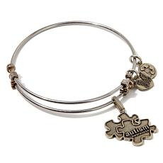 "Angelica Autism Awareness 7"" Slide-Clasp Bracelet"