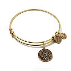 "Angelica Lotus Flower 7"" Slide-Clasp Bangle Bracelet"