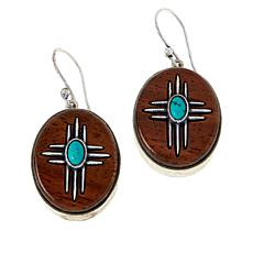 "Angie Spady ""Serenity"" Rosewood Cross Drop Earrings"
