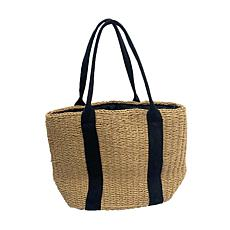 Anna Cai Natural Straw Tote Bag