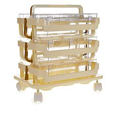 Anna Griffin® 3-Tier Storage Caddies with Ribbon Dispenser and Tray