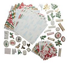 Anna Griffin® Christmas Toile Cardstock and Embellishments