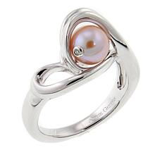 "Anne Geddes ""Infinity"" Pink Cultured Freshwater Pearl Ring"