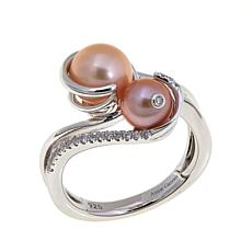 "Anne Geddes ""Nurture"" Apricot and Pink Bypass Ring"