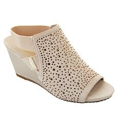 Anne Klein Raize Open-Toe Sling Wedge Shootie