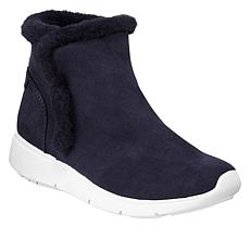 Anne Klein Therefore Sueded Fabric Sneaker Bootie