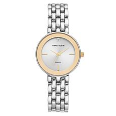 Anne Klein Women's Goldtone and Silvertone Diamond Bracelet Watch