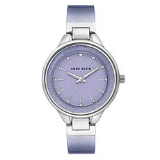 Anne Klein Women's Shimmering Lavender Semi-Bangle Bracelet Watch