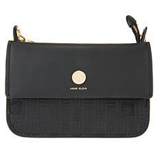 Anne Klein Zipper Top Crossbody Bag
