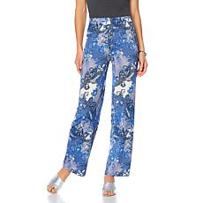 "Antthony ""Dance in Color"" Printed Pull-On Pant"