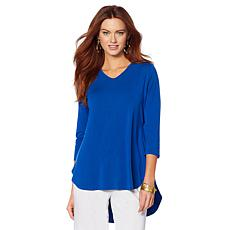 "Antthony ""Dance in Color"" V-Neck Top with 3/4 Sleeves"