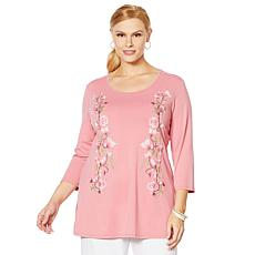 "Antthony ""Fleur For Me"" Embroidered Tunic"