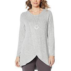 Antthony Hatchi Knit Overlap Top