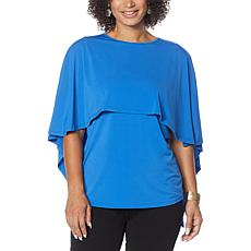 Antthony Hi-Low Cape Overlay Top