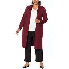 Antthony Holiday Luxe Ponte Knit Duster Cardigan