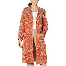 Antthony Knit Jacquard Duster Coat