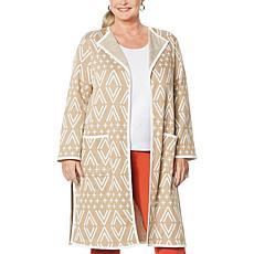 Antthony Knit Jacquard Duster Coat