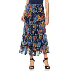 """Antthony """"Knit to my Heart"""" Layered Printed Skirt"""