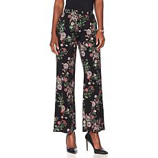 "Antthony ""Metallic Flower"" Printed Palazzo Pant"