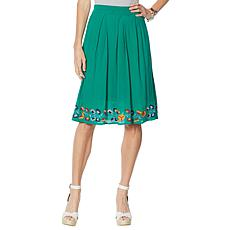 "Antthony ""Mexicali"" Cotton Gauze Box Pleat Skirt"