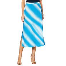 "Antthony ""Ocean Waves"" Tie Dye Print A-Line Skirt"