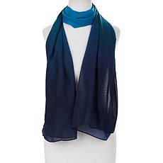 Antthony Printed Ombre Chiffon Scarf