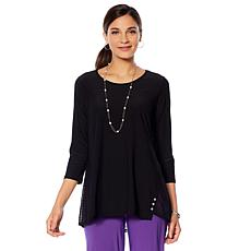"Antthony ""Reflections"" Lace Detail Top"
