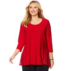 """Antthony """"Reflections"""" Lace Detail Top"""