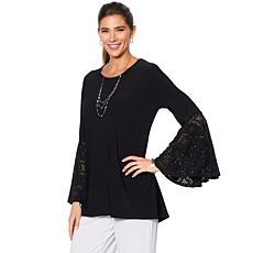 """Antthony """"Taj Mahal"""" Long-Sleeve Top with Laser-Cut Sleeve Detail"""