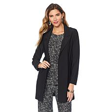 "Antthony ""Timeless Textures"" 2-piece Duster and Printed Top Set"