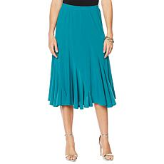 "Antthony ""Twilight Collection"" Spiral-Seamed Crepe Skirt"