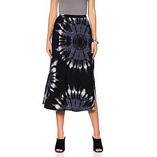 """Antthony """"Watercolors of the Sky"""" Tie-Dye A-Line Skirt"""