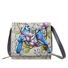 Anuschka Hand-Painted Leather 2-Fold Mini Organizer Wallet
