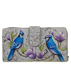 Anuschka Hand-Painted Leather 2-Fold Wallet with RFID Protection