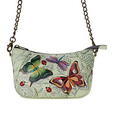 Anuschka Hand Painted Leather Chain Strap Crossbody