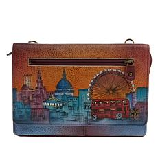 Anuschka Hand-Painted Leather Crossbody Organizer Wallet