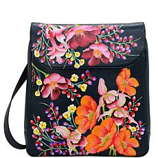 Anuschka Hand Painted Leather Large Travel Backpack