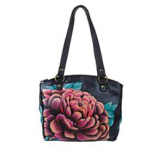 Anuschka Hand-Painted Leather Multi-Compartment Tote