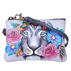 Anuschka Hand-Painted Leather Zip-Top Coin Purse