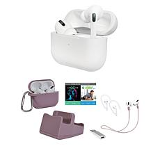 Apple AirPods Pro Earbuds with Noise-Cancelling & Accessories Bundle